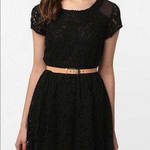 Anthro Coincidence & Chance Black Lace Dress D17